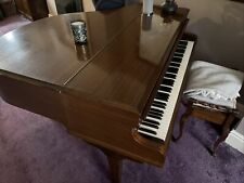 More details for oak 'challen' 1920s ivory key baby grand piano & stool