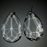 2 Pampilles anciennes  pour lustre Hauteur 5 cm