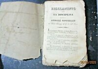 REGOLAMENTO PER LA DISCIPLINA DELLE AUTORITA GIUDIZIARIE AL DI LA DEL FARO 1829