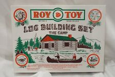 1997 WOODEN ROY TOY THE CAMP BUILDING SET LINCOLN LOGS WOOD TYPE PIECES