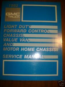 1992 GMC Light Truck Forward Chassis Van Motor Manual