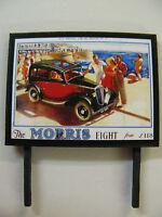 The Morris Eight - Model Railway Billboard - N Gauge & OO Gauge Trackside Signs
