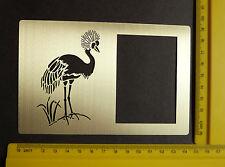 Brass/stencil/Oblong/Frame/Stork/Crane/Emboss/Oriental