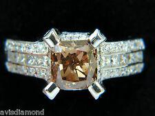 █$15000 GIA 2.76CT NATURAL FANCY ORANGE BROWN DIAMOND RING G/VS 14KT █!