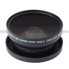 0.45x 62mm 62 mm macro conversion & wide angle Lens with 82mm front thread black