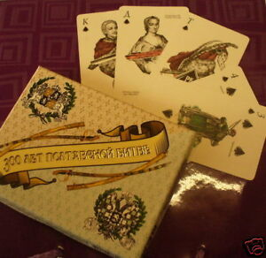 New 2x54 Playing Cards Military 300 years Poltava Battle Father's day Sale