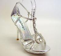 Luxury Silver Rhinestone Bridal Wedding Pageant Prom Party Platform Shoes