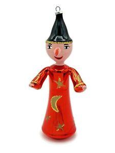 De Carlini Italian Glass Ornament Wizard Christmas Holiday Decoration