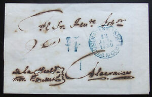 RARE (R) 1850 Spanish Colony PRE-PHILATELIC Cover See & Read INFO.