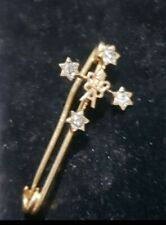 18ct gold diamond brooch Cross