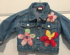 Girls  (Tangled) Jean Jacket 6-12 Months Embellished Flower Power Unique Cute