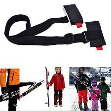 Adjustable Ski Pole Shoulder Hand Carrier Lash Handle Straps Porter Hook Loop