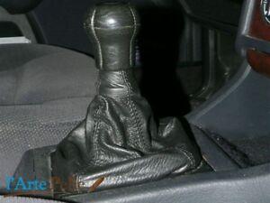 Audi 80 cuffia cambio in pelle e cuciture nere