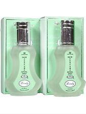 Lovely 35ml by Al Rehab Oriental Cool Aqua Musk Scent Eau De Parfum Pack of 2