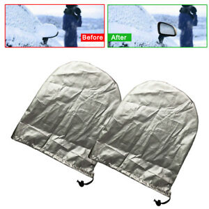 2x Car Side Mirror Snow Cover Rear View Mirror Snow Ice Frost Protector 27*32cm