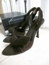 GIUSEPPE ZANOTTI (VICINI) BNIB Sexy Brown Slingbacks EUR36 But Will Fit Up To 37