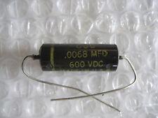 """1 x Nos .0068 uf @ 600 vdc Cornell Dubilier """"Cub"""" Pio Tone Capacitor! 10% Tol."""