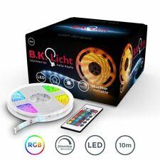 LED Band 10M Stripes RGB Streifen Licht-Leiste Kette 230V warmweiß Fernbedienung