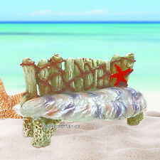 Shell Mermaid Bench GO 17603 Miniature Fairy Garden