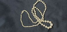ESTATE... GRADUATED NATURAL PEARL NECKLACE 7.8MM - 3.4MM