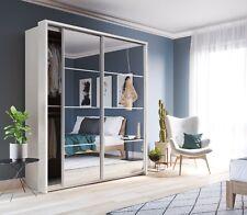 Brand New Modern Bedroom Sliding Mirror Wardrobe Arti 17 White Matt 180cm