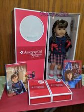 """American Girl Doll Molly NRFB 18"""" Size Glasses 2 Books Pajamas Accessories"""