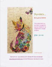 Purrfect ... Cat Collage Quilt Pattern by Laura Heine, DIY Quilting Kitten Quilt