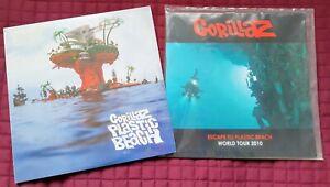 Gorillaz - Plastic Beach - Sealed 2 x LP with 2010 World Tour Programme .