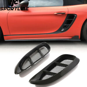 Carbon Side Air Vent Intake Fender Fit For Porsche 718 Boxster Cayman 2016-2018