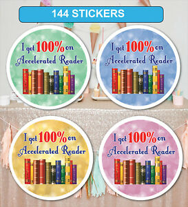 144 Personalised Reading Reward Sticker Label Teachers Parents School Nursery