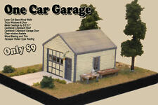 The One Car Garage by Railroad Kits - HO Scale Craftsman Structure - BEST VALUE!