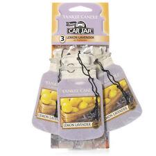Yankee Candle 3 Pack Car Jar Air Freshener Fragrance Scent - LEMON LAVENDER