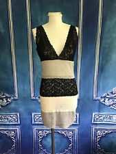Layered Color Block Lace Shaping Slip SMALL Adjustable Boudoir Gray Black Taupe