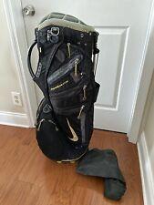 New listing Nike Sasquatch SQ Tour Stand Bag 14 Divider Dual Strap Black/Gry/Yellow Rainhood