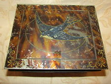More details for large antique collectable blue bird luxury assortment biscuits tin