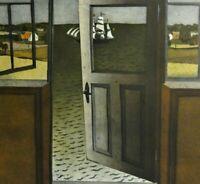 Diether KRESSEL, 1925-2015 PROBE-Farbradierung 1971: GRUß AUS SVANEKE (Bornholm)