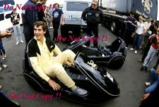 Ayrton Senna JPS Lotus Modified Sinclair C5 British Grand Prix 1985 Photograph 2