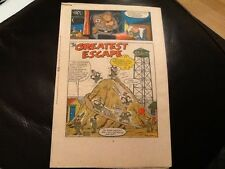 MONSTER FUN BAD TIME BED TIME BOOK 1970's Paper pull, cut out  GREATEST ESCAPE