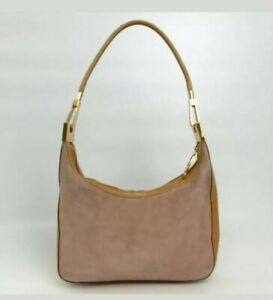 Gucci Hobo Bucket Looping Shoulder Bag Hobo Tote Pink Tan Boho Summer Logo