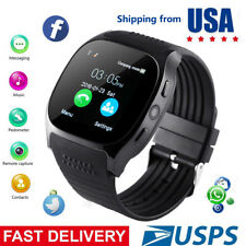 Smart Watch Unlocked Watch Cell Phone with Facebook Twitter Sync for Android Men
