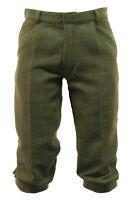 Men's Derby Tweed Trousers Dark Tweed Hunting Shooting Plus Fours Breeches C6