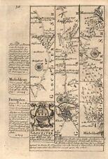 Gloucester-Longhope-Mitcheldean-Monmouth road map by J. OWEN & E. BOWEN 1753