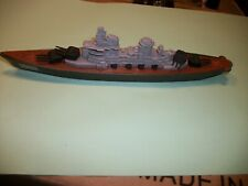 Vintage 1970s TootsieToy die cast boat Battleship 145 nice Made In Usa