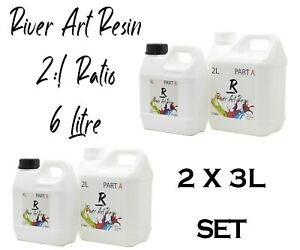 6L Set River Art Resin High Performance 2:1 Epoxy Resin Ultra-Clear Casting