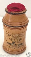 Antique Wood PICCADILLY Dial Needle Case GERMANY