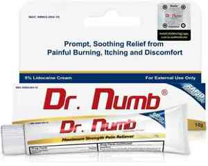 Dr. Numb 5% Topical Anesthetic Numbing Cream for Pain Relief Vitamin E 10g