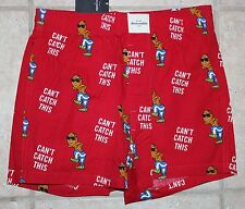 NWT Abercrombie Boys XXS (7) Gingerbread Can't Catch This Sleep Boxer Shorts