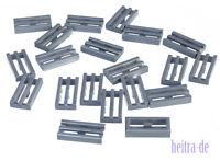 LEGO - 20 x Gitterfliese silber ( Flat Silver ) / Gitter Fliese / 2412b NEUWARE