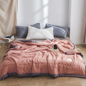 Summer Cool Quilt King Queen Size Home Bedding Sheet Newborn Comforter Plaid