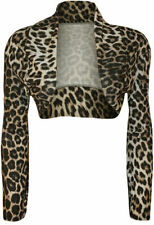 Polyester Animal Print Long Sleeve Casual Tops for Women